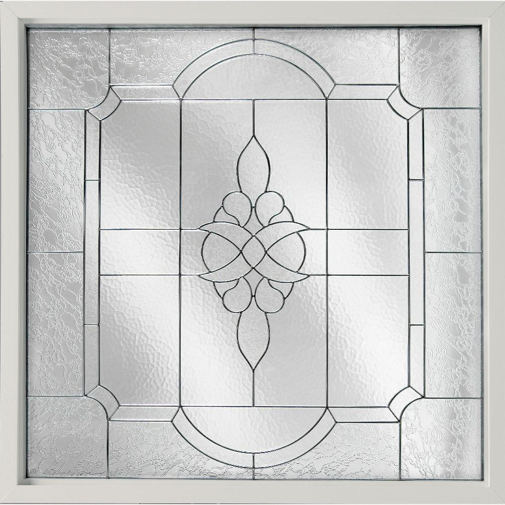 47.5 in. x 47.5 in. Decorative Glass Fixed Vinyl Glass Block