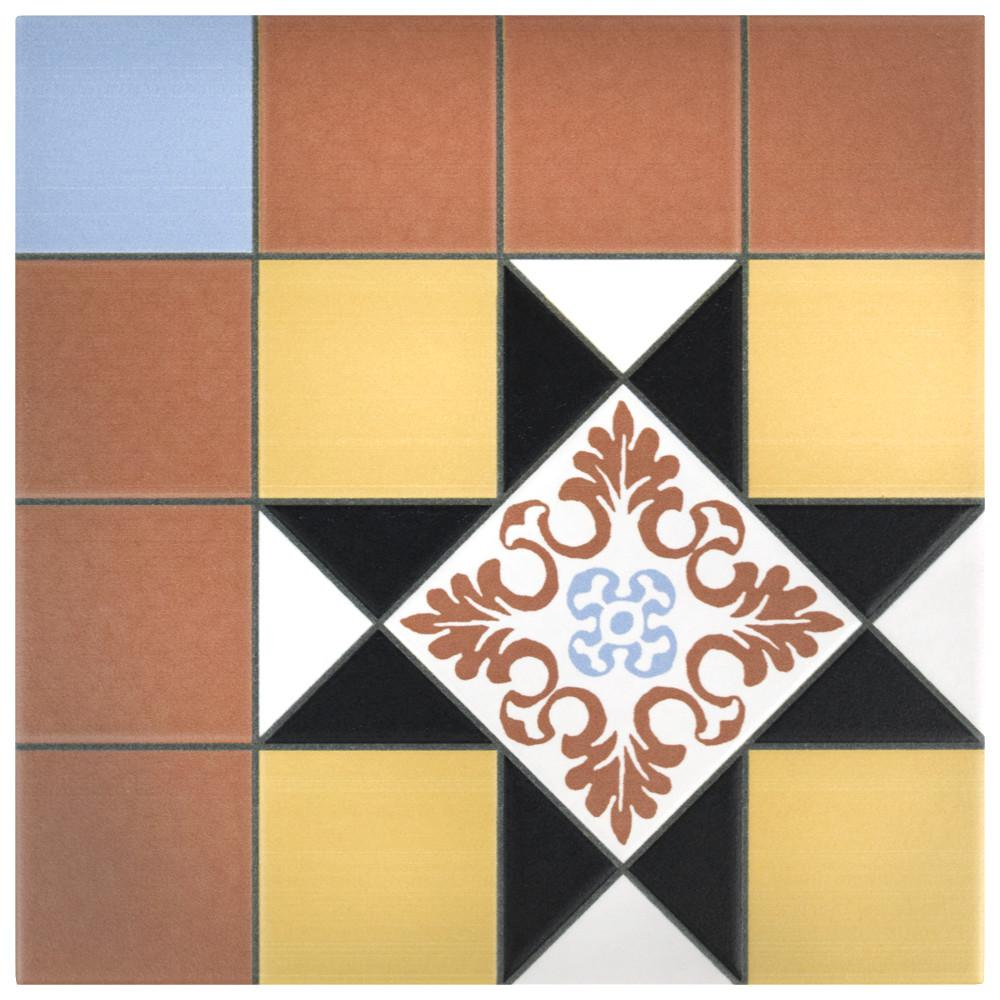 Merola Tile Derby Black 9-3/4 in. x 9-3/4 in. Porcelain Floor and Wall Tile (11.11 sq. ft. / case)
