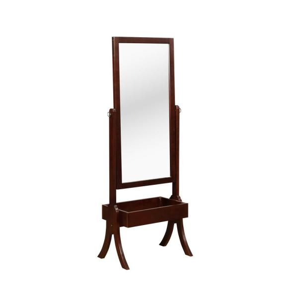 Foxcroft Cherry Cheval Mirror Jewelry Armoires
