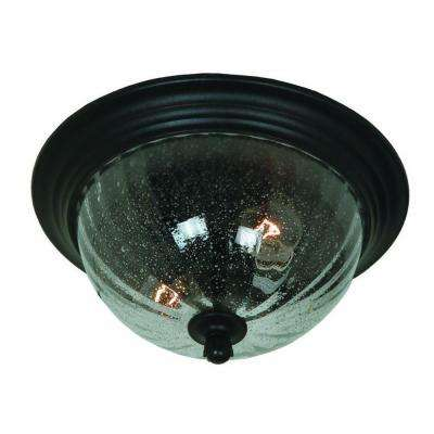 Kahley 2-Light Oil Rubbed Bronze Outdoor Flush Mount