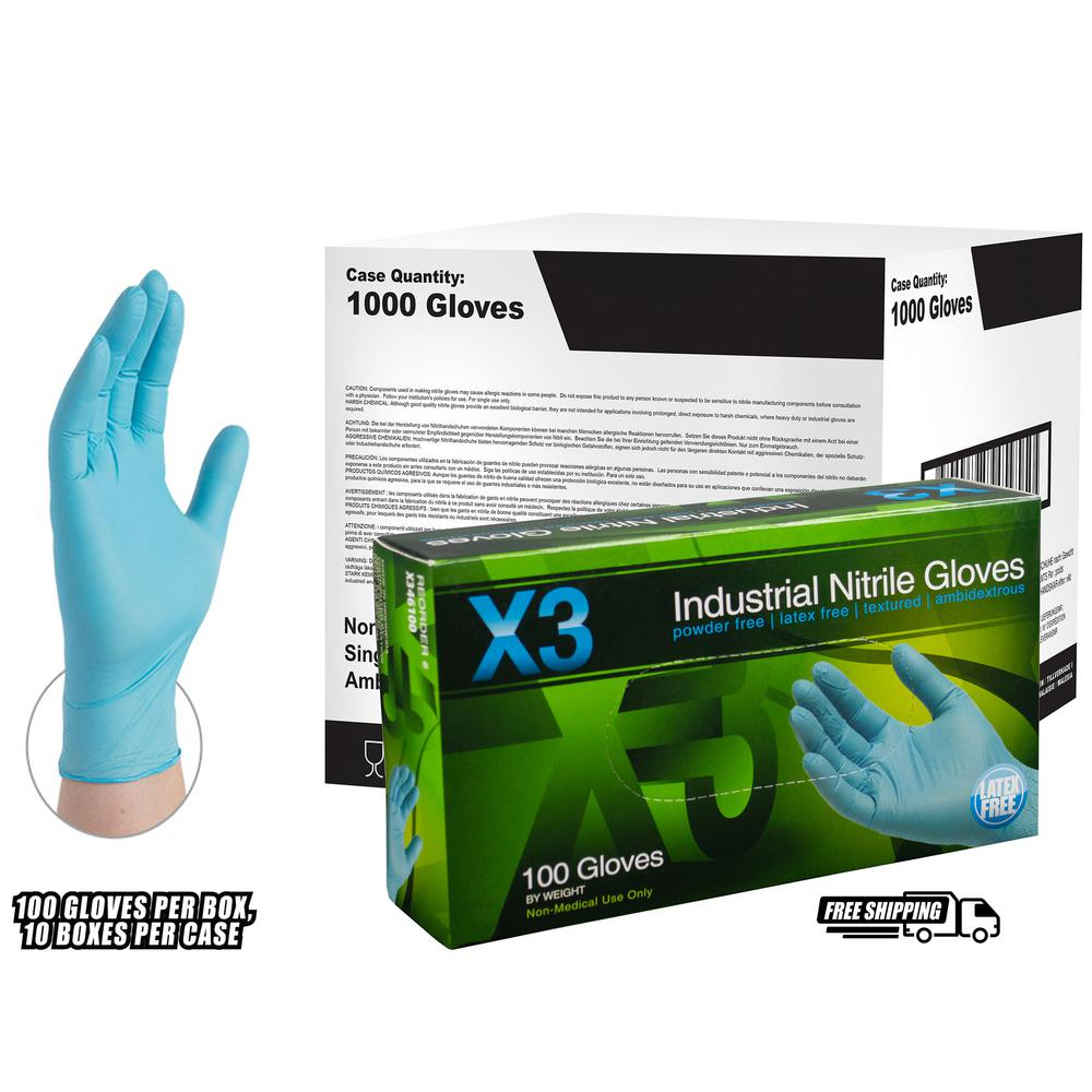 ammex small x3 blue nitrile industrial latex free disposable gloves case of 1000 x342100 the. Black Bedroom Furniture Sets. Home Design Ideas
