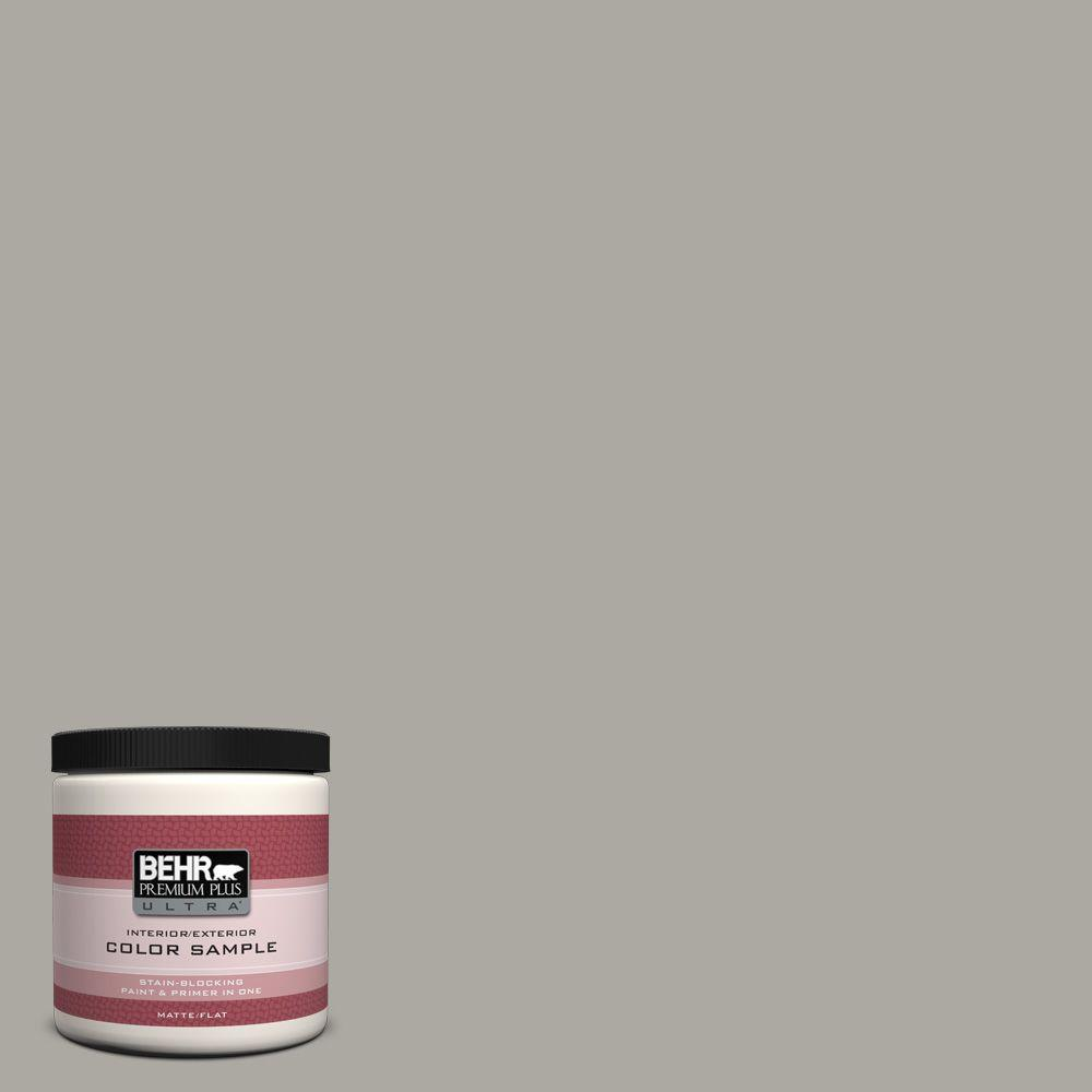 Behr Premium Plus Ultra 8 Oz Ppu24 10 Downtown Gray Matte Interior
