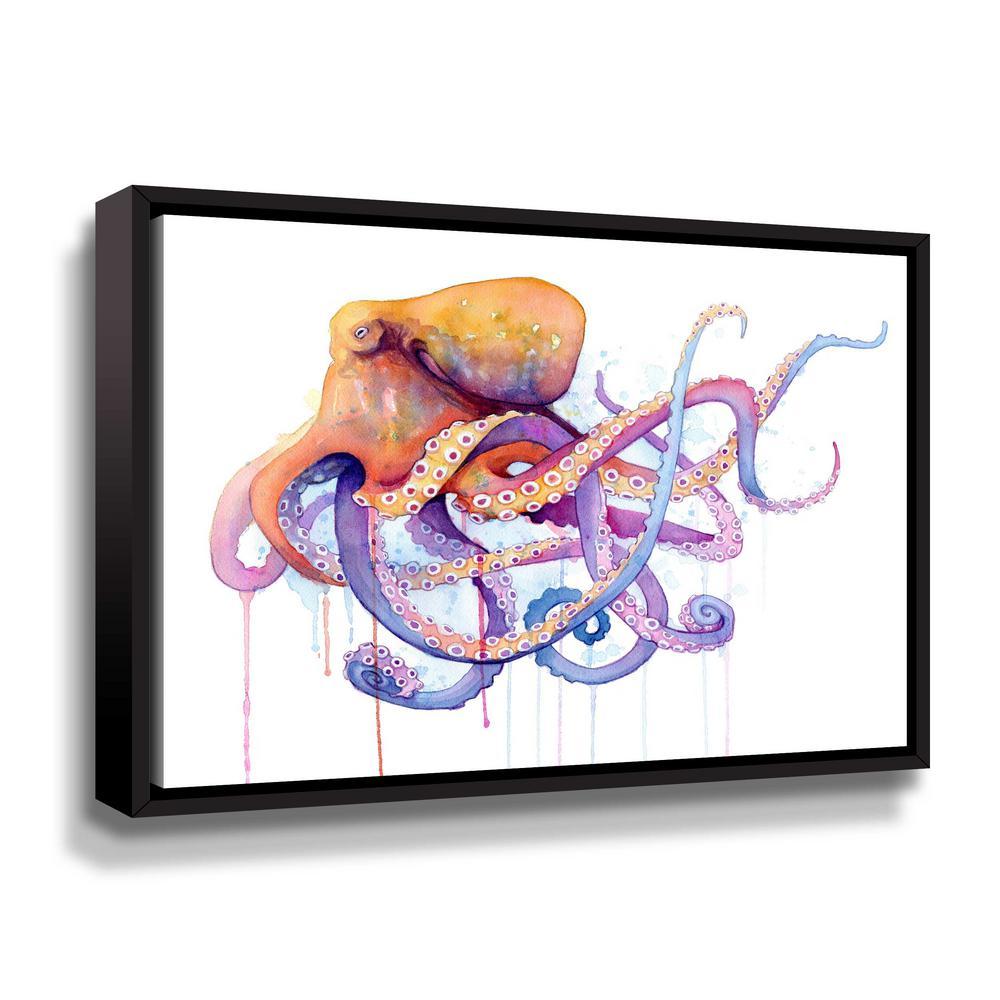'Octopus 2' by  Sam nagel Framed Canvas Wall Art