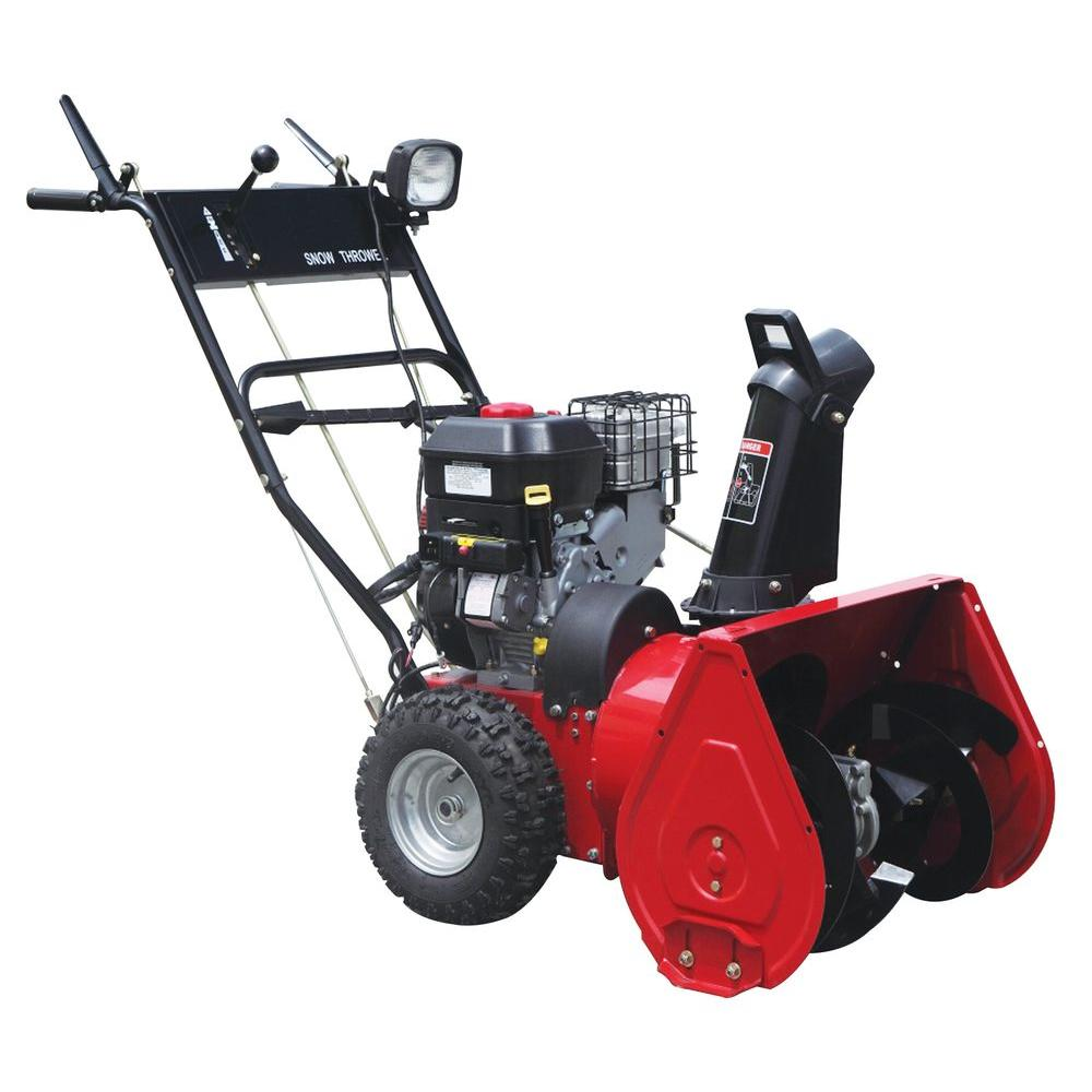 2 stage snow blower worldlawn 24 in 7 5 hp 2 stage electric start briggs 28976