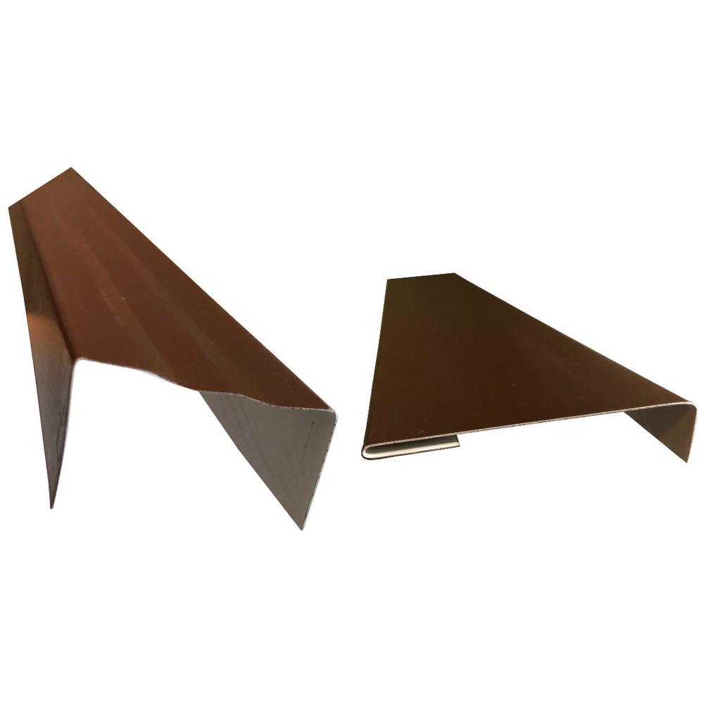 2.5 in.x2.25 in.x85 in. Complete Aluminum Metal Brickmold and Jamb Door Trim Cover Kit-36 in. Door w/Siding, Royal Brown