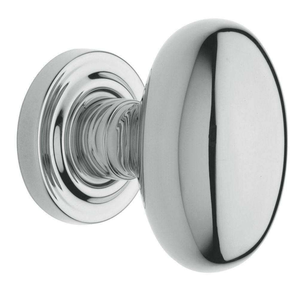 Chrome Door Knobs >> Baldwin Estate Polished Chrome Bed Bath Egg Door Knob