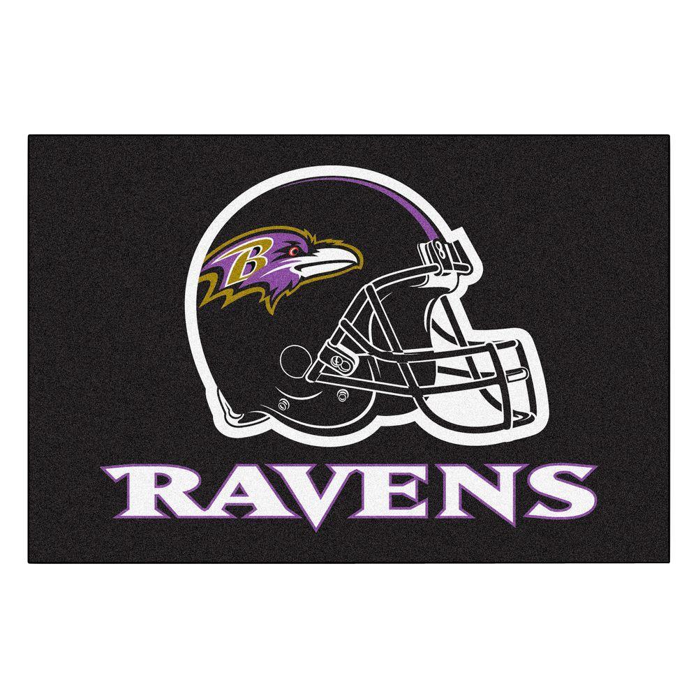 NFL - Baltimore Ravens 19 in. x 30 in. Starter Mat Indoor Accent Rug