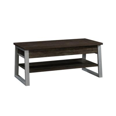 Rock Glen 18 in. Blade Walnut with Silver Metal Frame Lift-Top Coffee Table