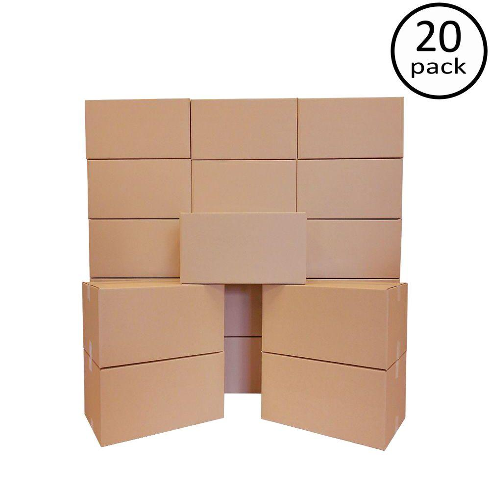 Plain Brown Box 22 in. x 15 in. x 12 in. 20 Moving Box Bundle