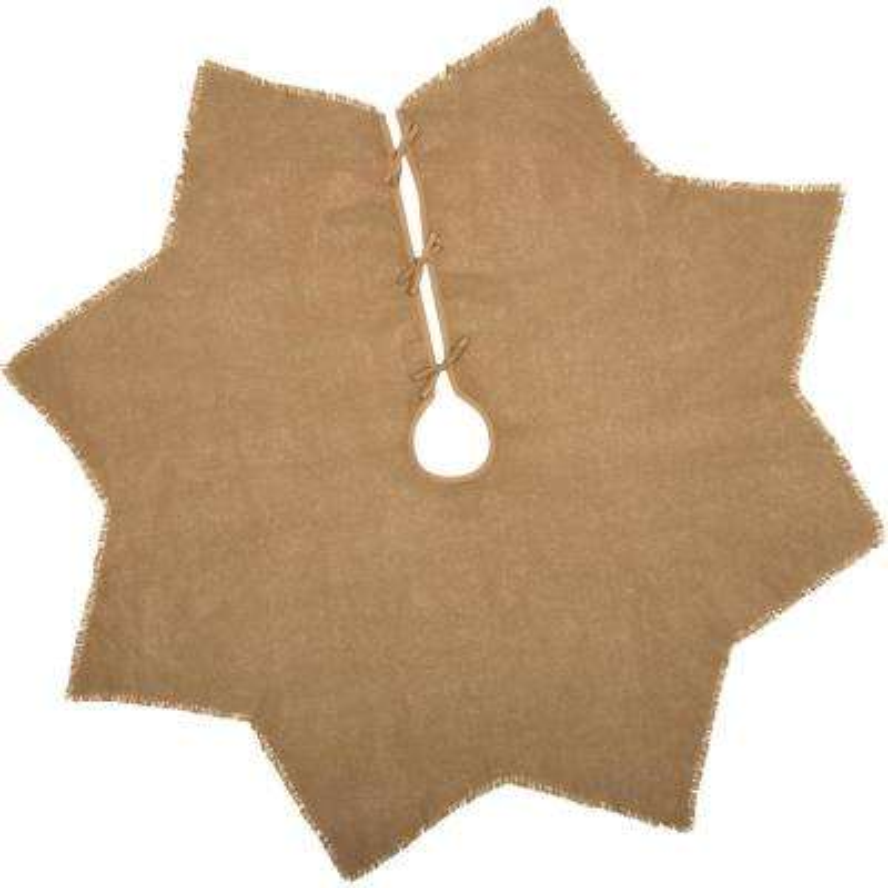 48 in. Burlap Natural Tan Farmhouse Christmas Decor Tree Skirt