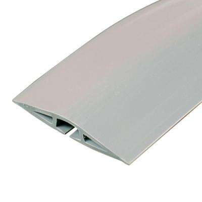 Corduct 15 ft. 1-Channel Over-Floor Cord Protector, Gray