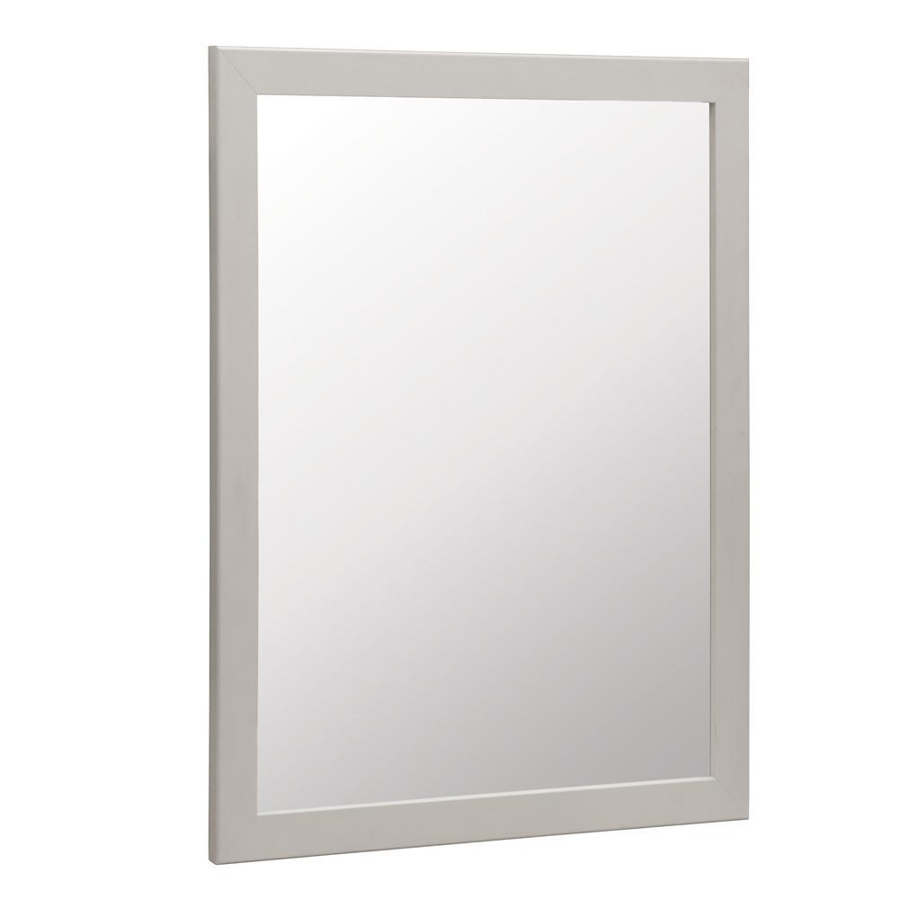 Glacier Bay Kinghurst 29 in. W x 35 in. H Framed Vanity Mirror in Dove Gray
