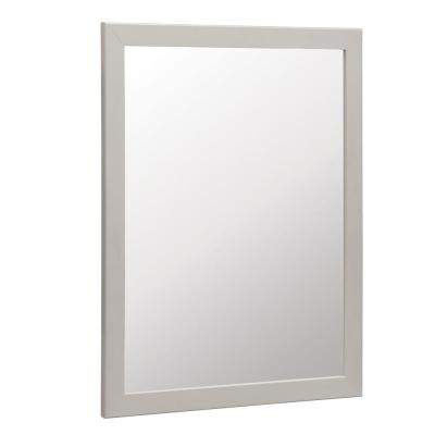 Kinghurst 29 in. W x 35 in. H Single Framed Vanity Mirror in Dove Gray