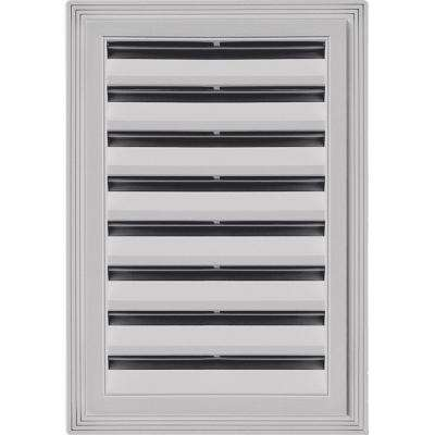 12 in. x 18 in. Rectangle Gable Vent #016 Gray