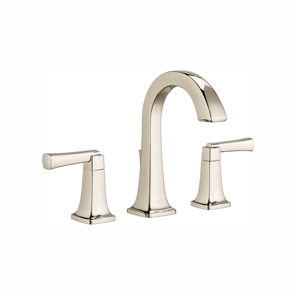 American Standard Bathroom Faucets >> American Standard Townsend 8 In Widespread 2 Handle High Arc Bathroom Faucet With Speed Connect Drain In Polished Nickel