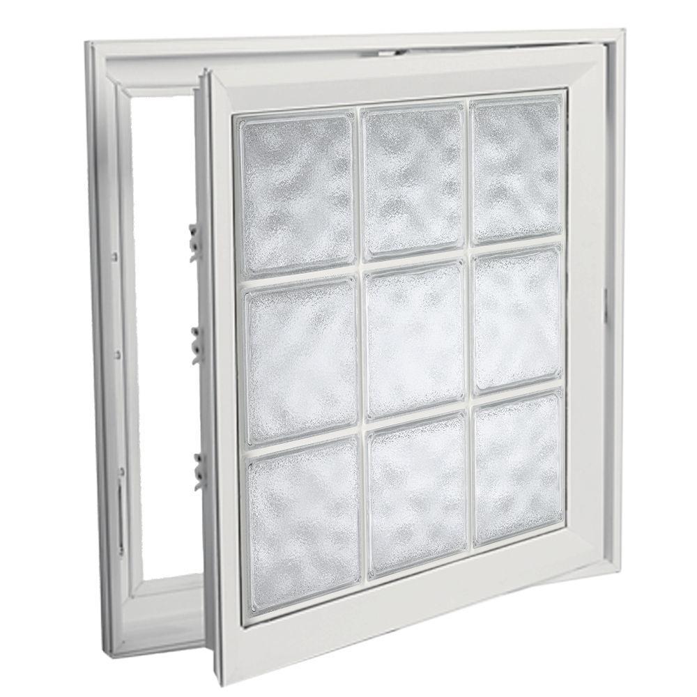 Hy-Lite 42 in. x 53 in. Acrylic Block Right Casement Vinyl Window - White