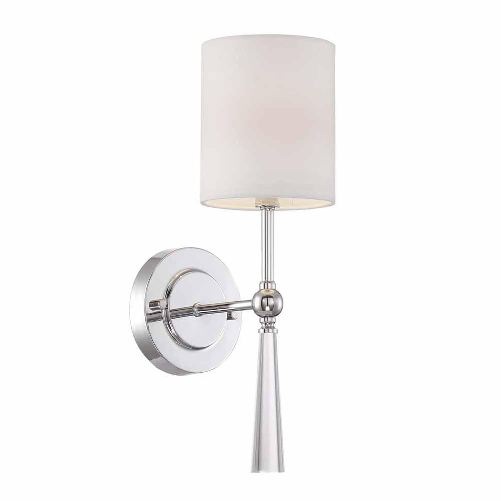 Beau Cordelia Lighting 1 Light Chrome Wall Sconce