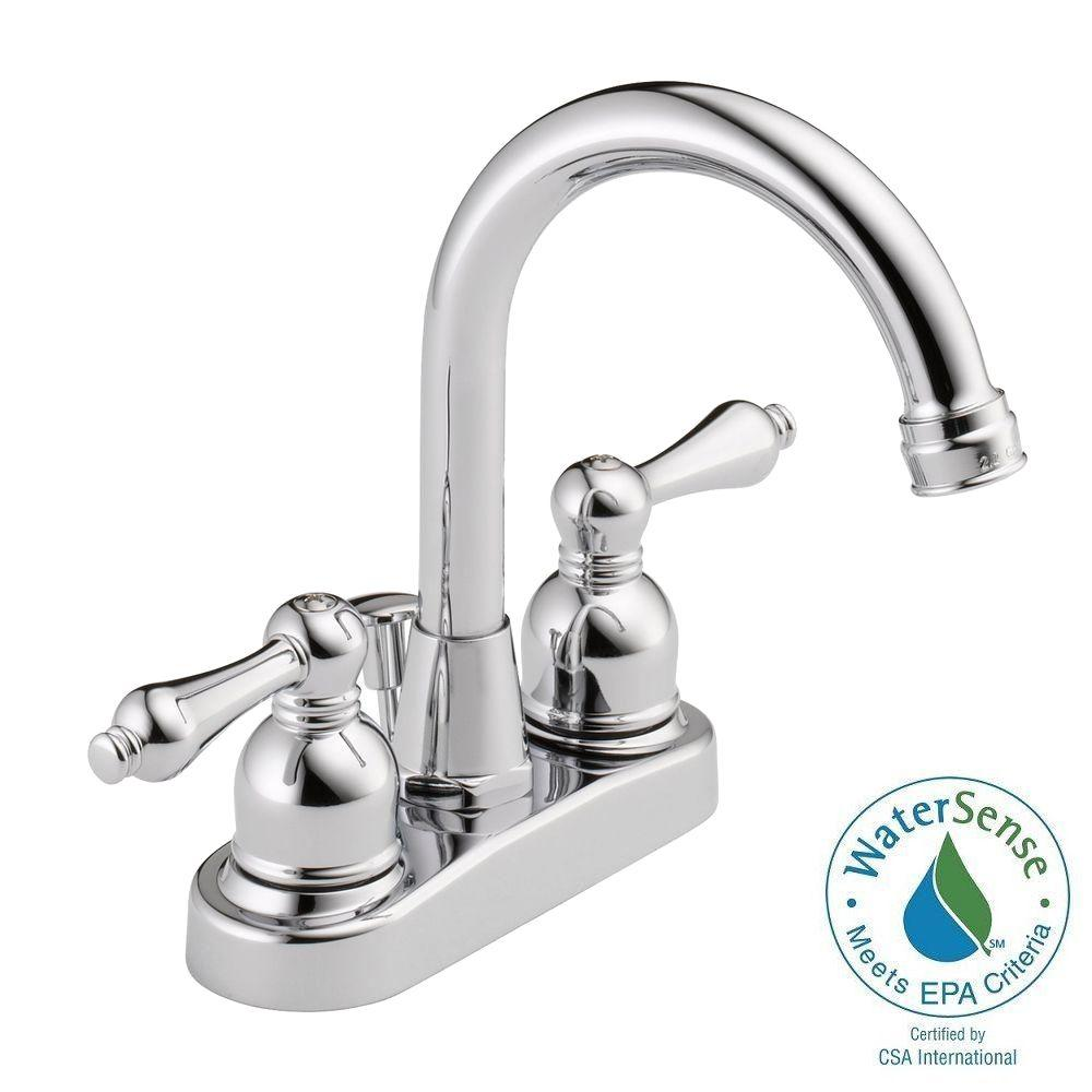 6 inch centerset bathroom faucet. Centerset 2 Handle High Arc Bathroom Faucet in Polished Chrome with 6  Sink Faucets