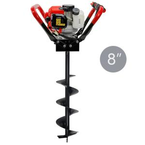 XtremepowerUS 55CC 1-Man Post Hole Digger with 8 inch Bit by XtremepowerUS