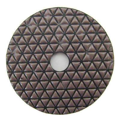 4 in. #50 Grit Dry Diamond Polishing Pad for Stone