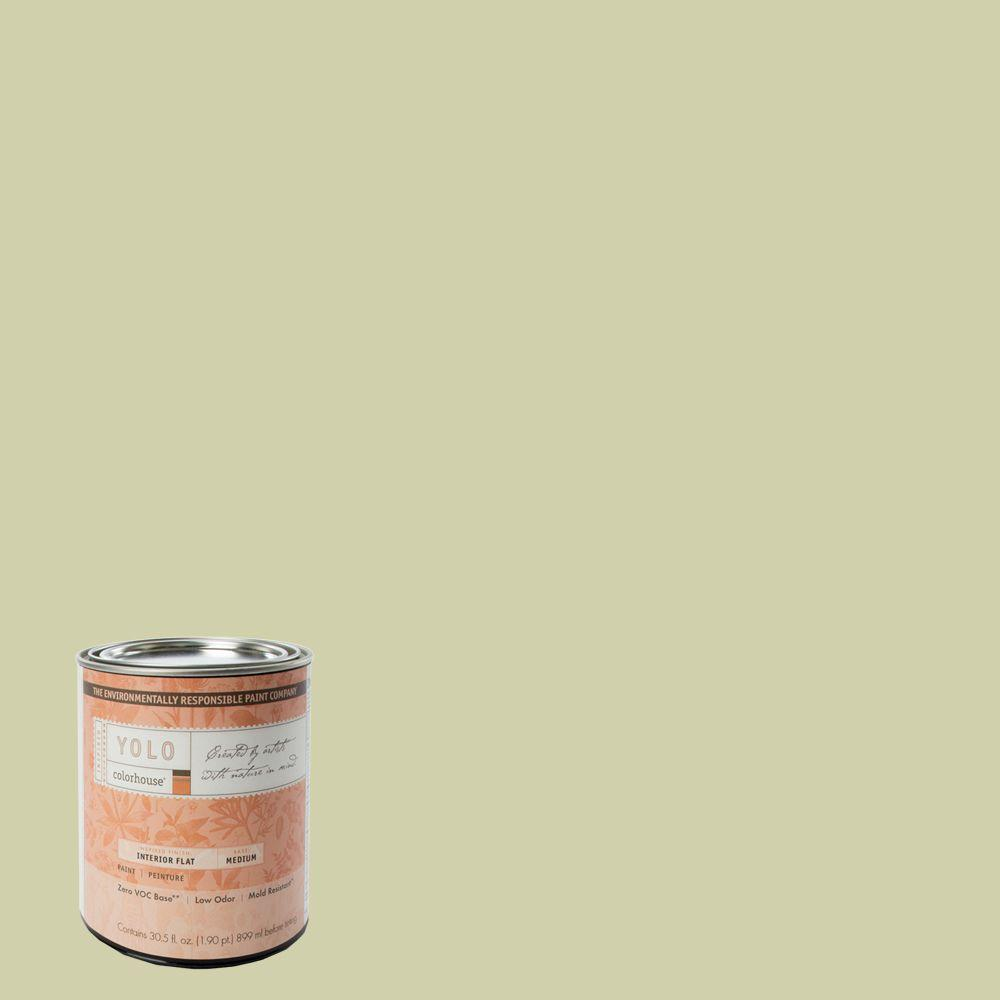 YOLO Colorhouse 1-Qt. Leaf .01 Flat Interior Paint-DISCONTINUED