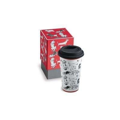 Purr & Wag 12 oz Red Dog Travel Mug