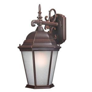 Traditional Wall Mount 18 In Outdoor Old Bronze Lantern With White Glass Shade
