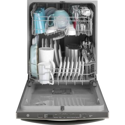 24 in. Fingerprint Resistant Black Slate Top Control Built-In Tall Tub Dishwasher with Steam Cleaning and 50 dBA