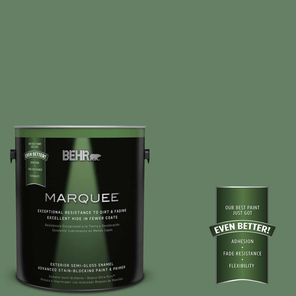 BEHR MARQUEE 1-gal. #S400-6 Tuscan Herbs Semi-Gloss Enamel Exterior Paint