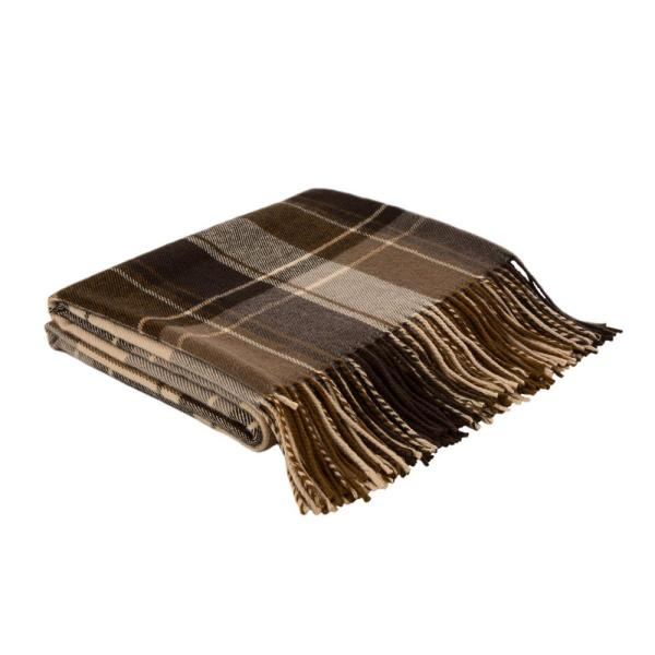 50 in. H Woven Plaid Throw Blanket