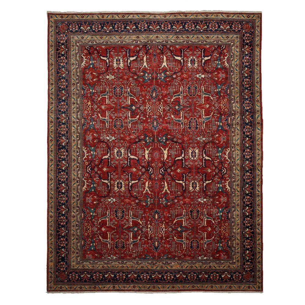 darya rugs ziegler red 9 ft x 11 ft 9 in indoor area. Black Bedroom Furniture Sets. Home Design Ideas