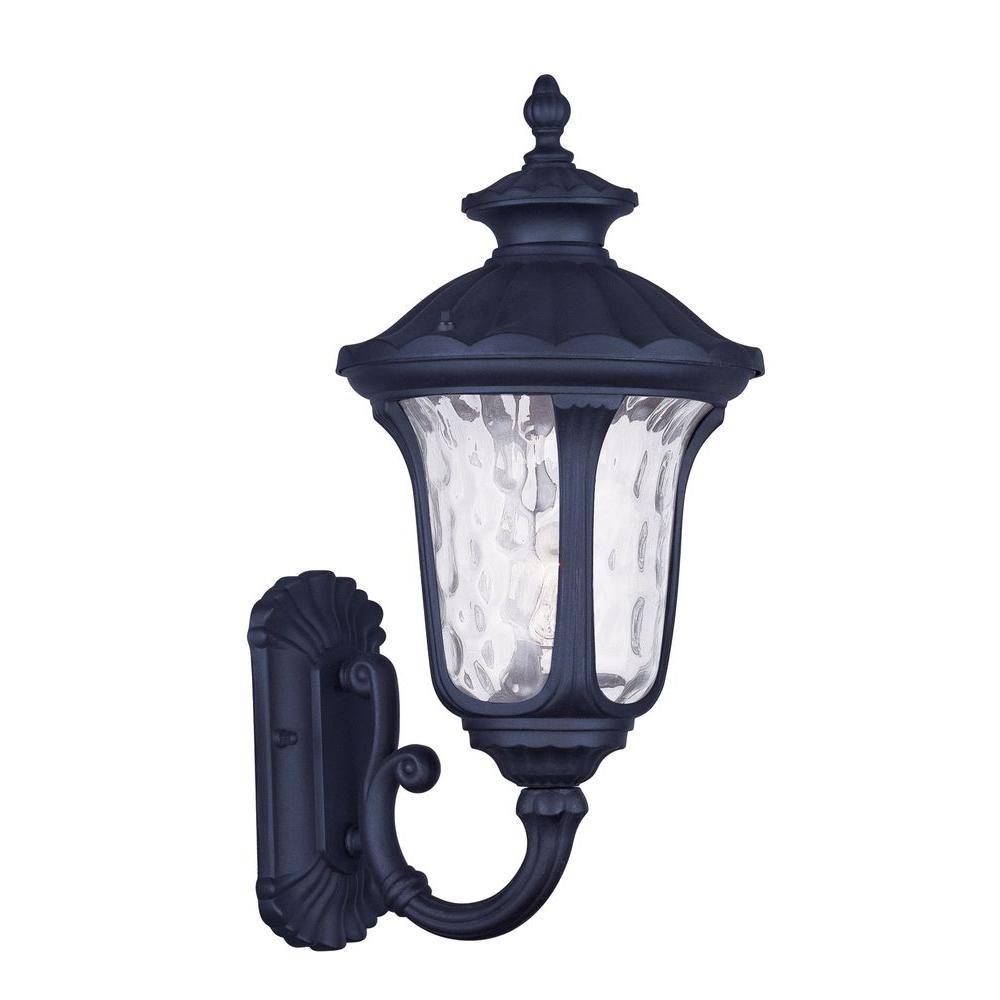 Providence 1-Light Black Outdoor Wall Lantern Sconce