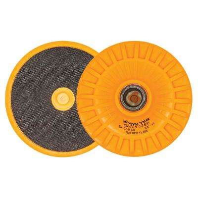 Quick-Step 4 in. x 5/8 in. to 11 in. Velcro Backing Pad with Centering Pin