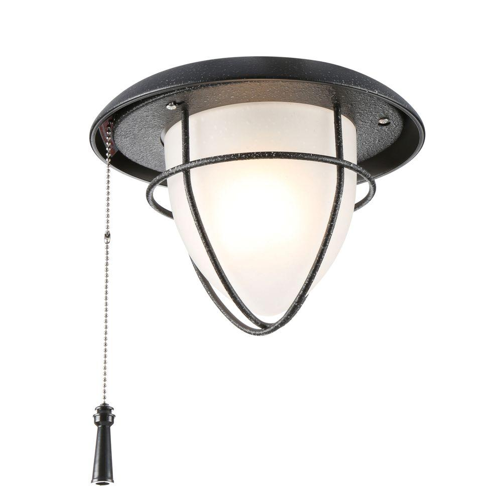 Hampton Bay Palm Beach 1-Light Gilded Iron Ceiling Fan Light Kit