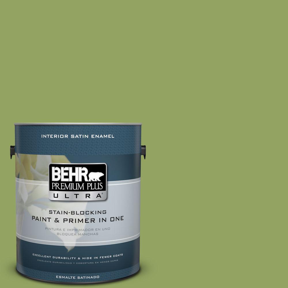 BEHR Premium Plus Ultra Home Decorators Collection 1-gal. #HDC-MD-15 Zesty Apple Satin Enamel Interior Paint