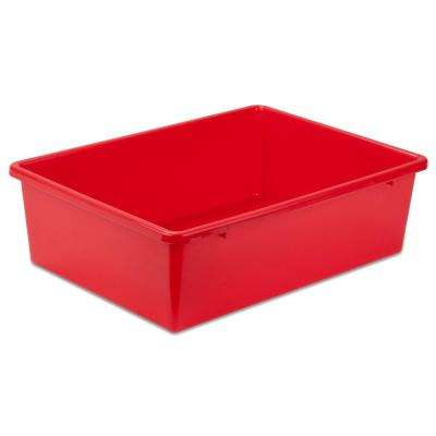 16.25 in. x 5 in. Red Storage Cube