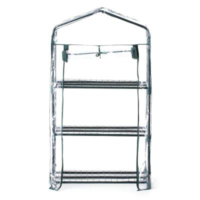 27 in. x 19 in. x 50 in. 3-Tier Metal and Plastic Greenhouse Portable