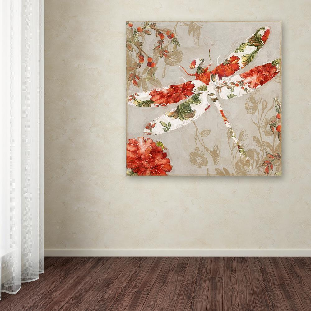 """Trademark 35 in. x 35 in. """"Winged Tapestry Iii"""" by Color ..."""