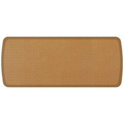 Elite Basketweave Khaki 20 in. x 48 in. Comfort Kitchen Mat