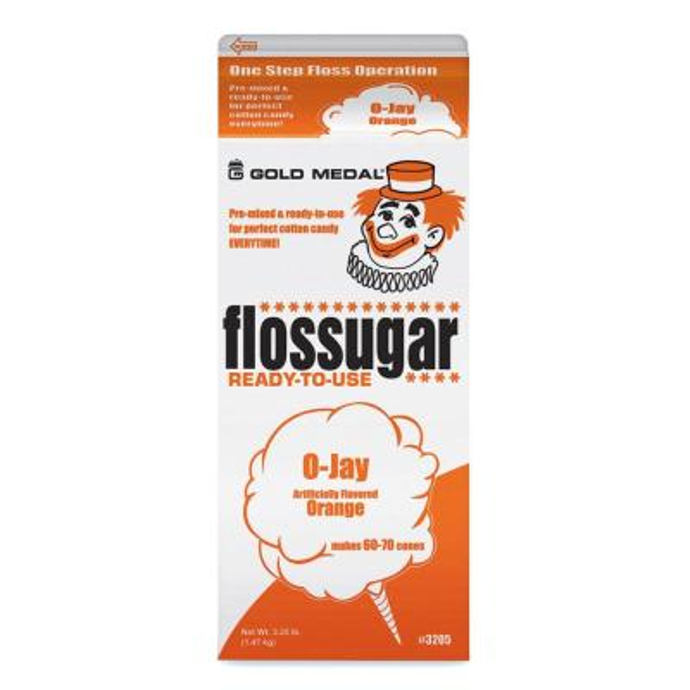 Flossugar 1/2 Gal. Orange
