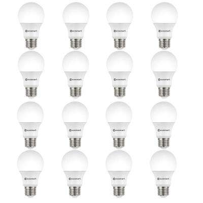 60-Watt Equivalent A19 Non-Dimmable CEC LED Light Bulb Daylight (16-Pack)