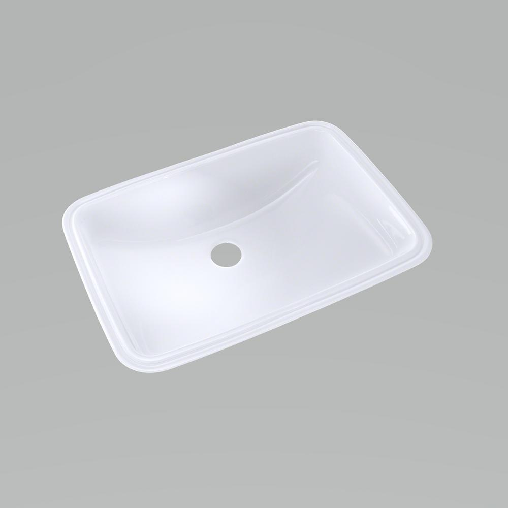 Toto 19 In Undermount Bathroom Sink With Cefiontect Cotton White