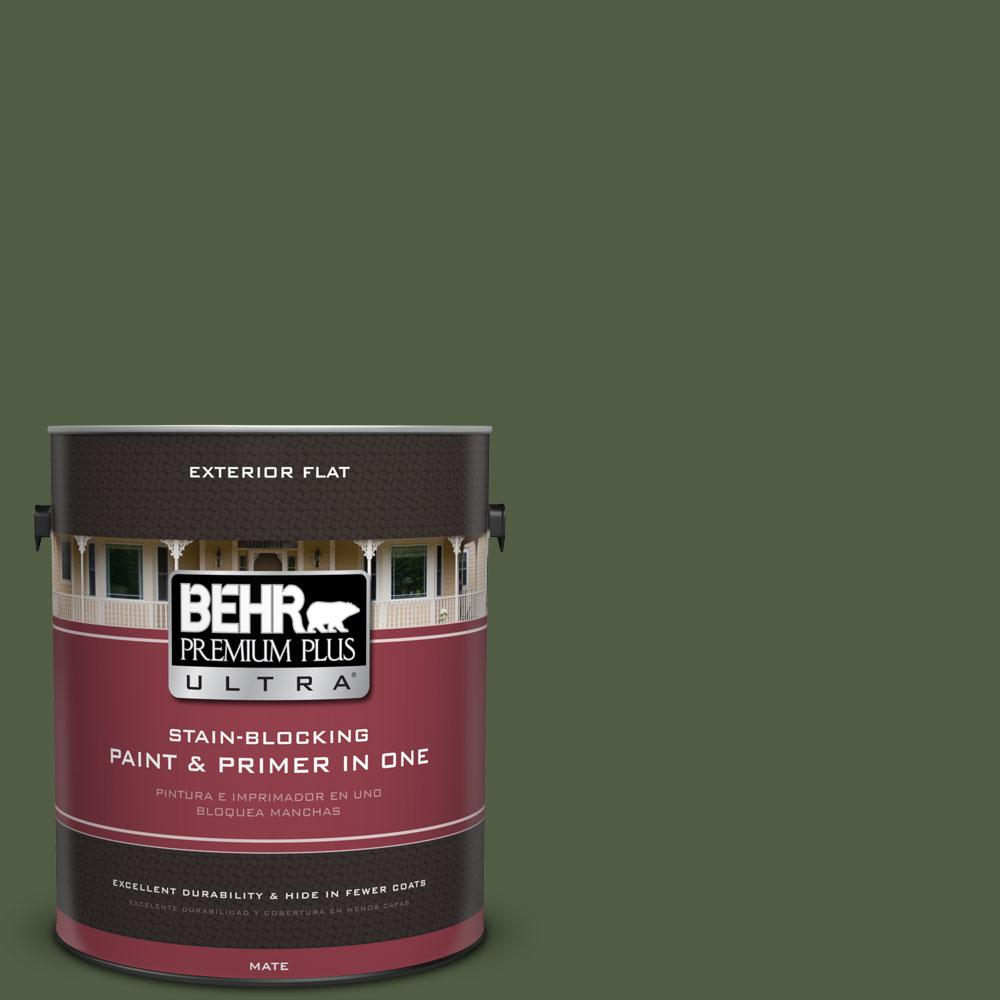 1-gal. #420F-7 Forest Ridge Flat Exterior Paint