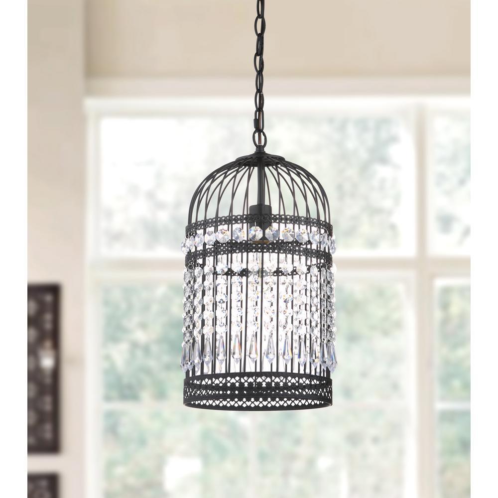 Light Black Bird Cage Pendant Pnd4014a