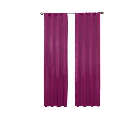Darrell Thermaweave Blackout Window Curtain Panel in Boysenberry - 37 in. W x 63 in. L