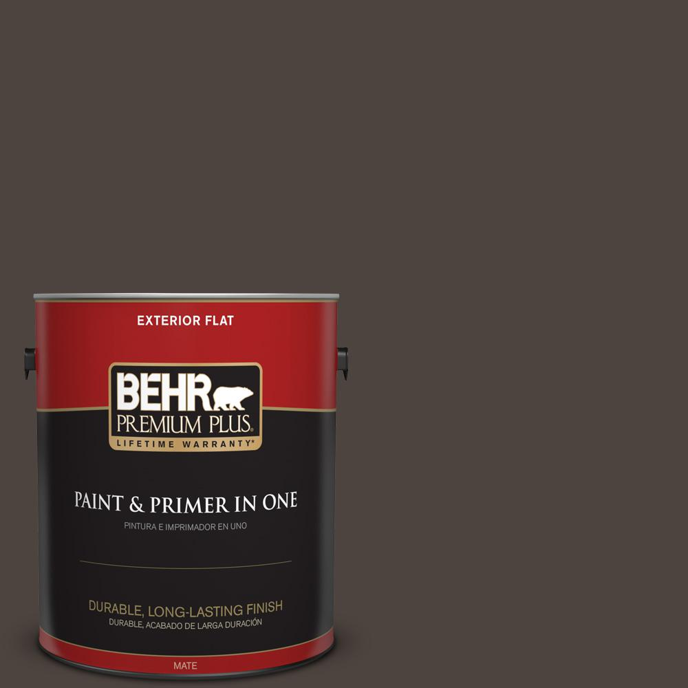 Ppu5 01 Espresso Beans Flat Exterior Paint And Primer In One