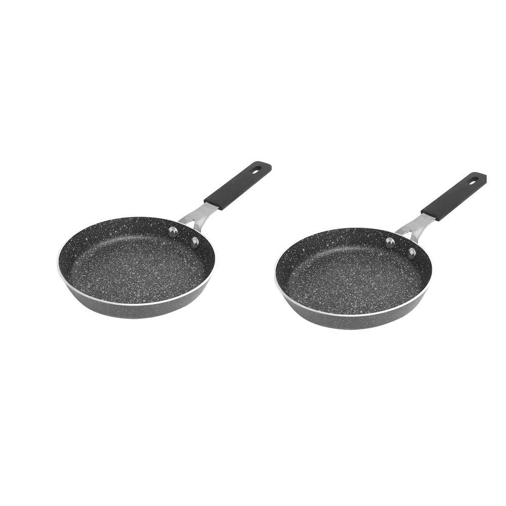 5.5 in. Aluminum Non-Stick Diamond Infused Mini Fry Pan (2-Pack)