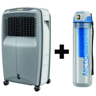 500 CFM 3-Speed Portable Evaporative Cooler with Free Cordless 4-Volt 16 oz. Personal Mister