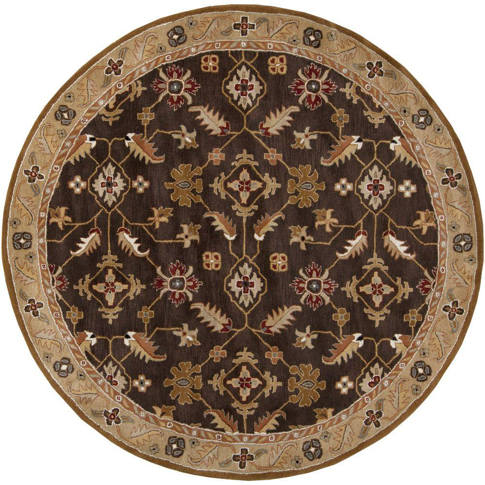 artistic weavers epictus chocolate 9 ft 9 in x 9 ft 9 in round indoor area rug s00151006738. Black Bedroom Furniture Sets. Home Design Ideas