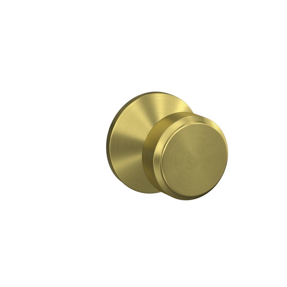 Bon Schlage Custom Bowery Satin Brass Kinsler Trim Combined Interior Door Knob